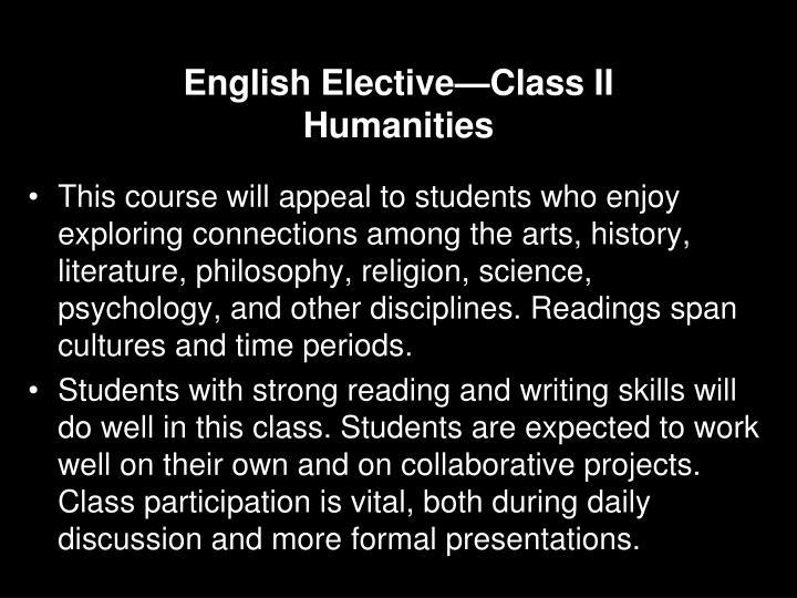 English Elective—Class II