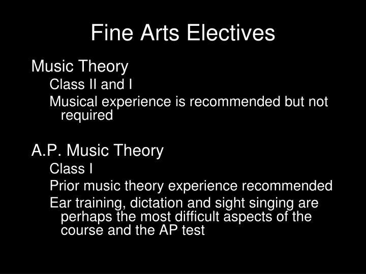 Fine Arts Electives
