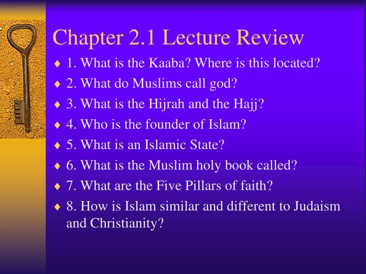 Chapter 2.1 Lecture Review