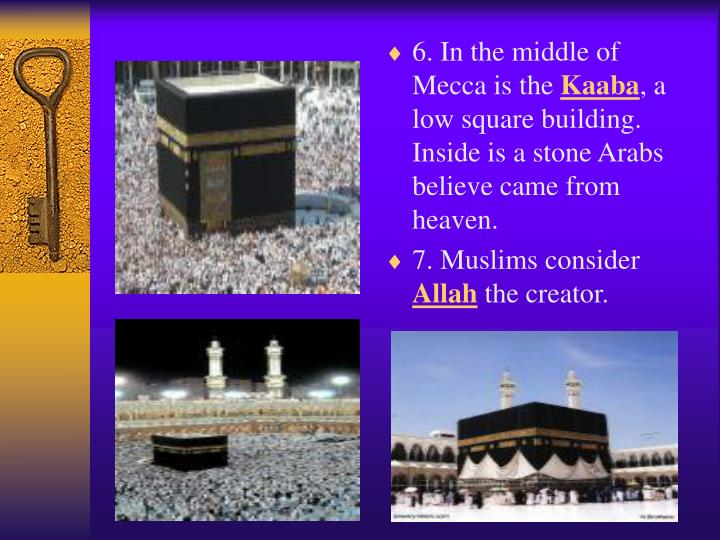 6. In the middle of Mecca is the