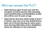 who can access the flc