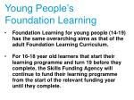 young people s foundation learning