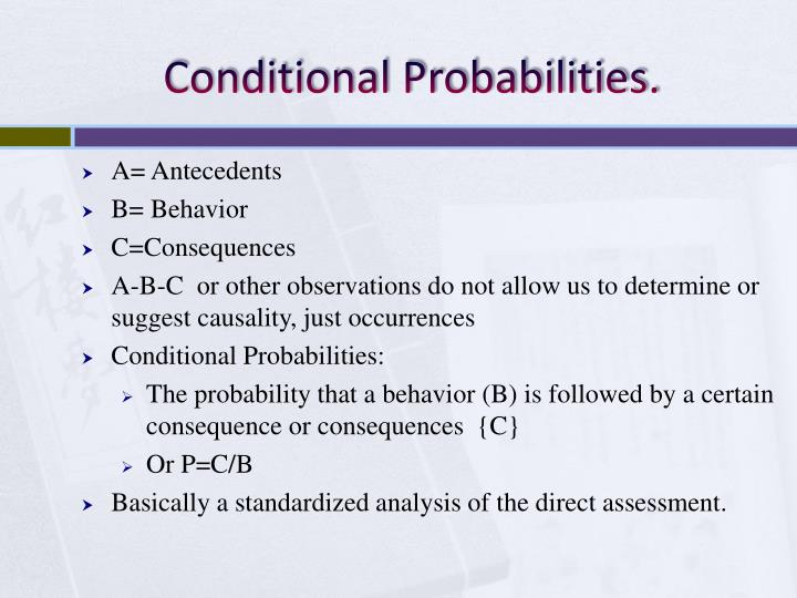 Conditional Probabilities.