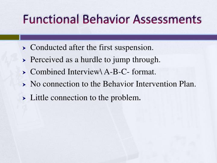 Functional Behavior Assessments