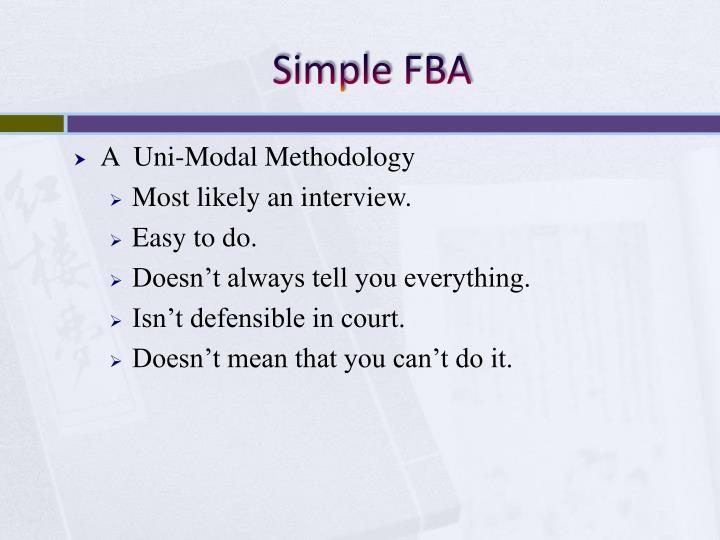 Simple FBA