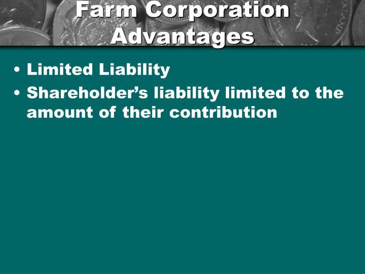 Farm Corporation Advantages