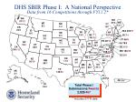dhs sbir phase i a national perspective data from 16 competitions through fy11 2
