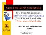 open scholarship competition
