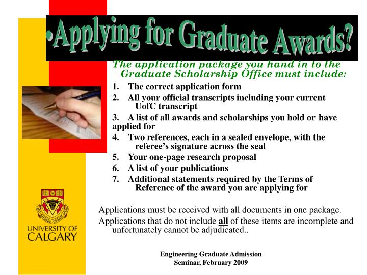 Applying for Graduate Awards?