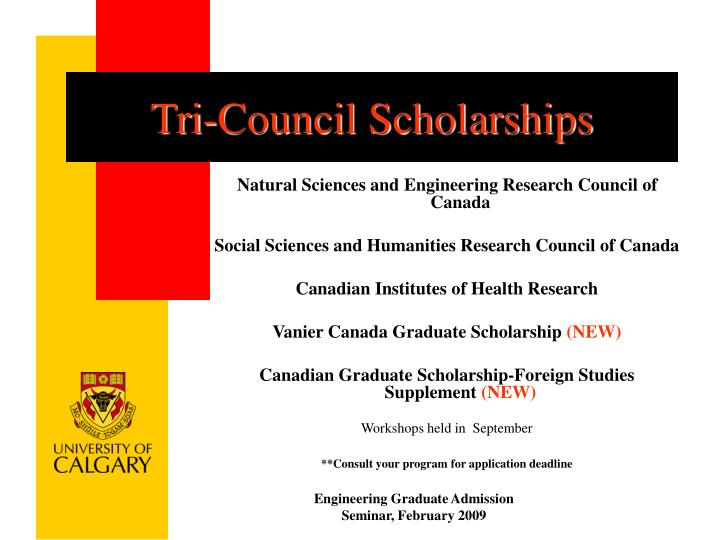 Tri-Council Scholarships