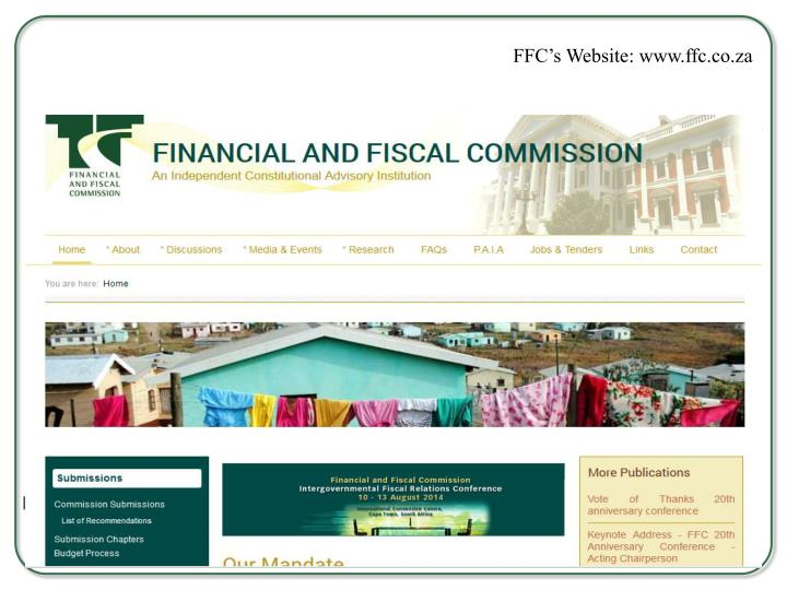 FFC's Website: www.ffc.co.za