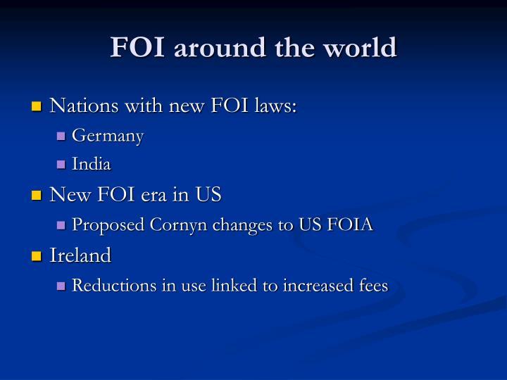 FOI around the world