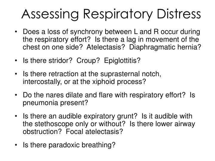 Assessing Respiratory Distress