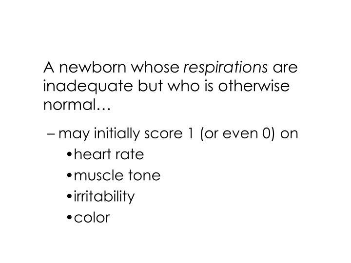 A newborn whose