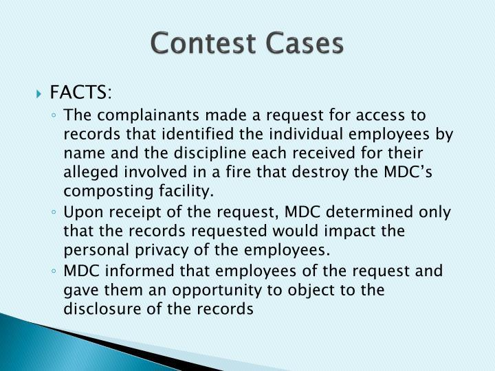 Contest Cases