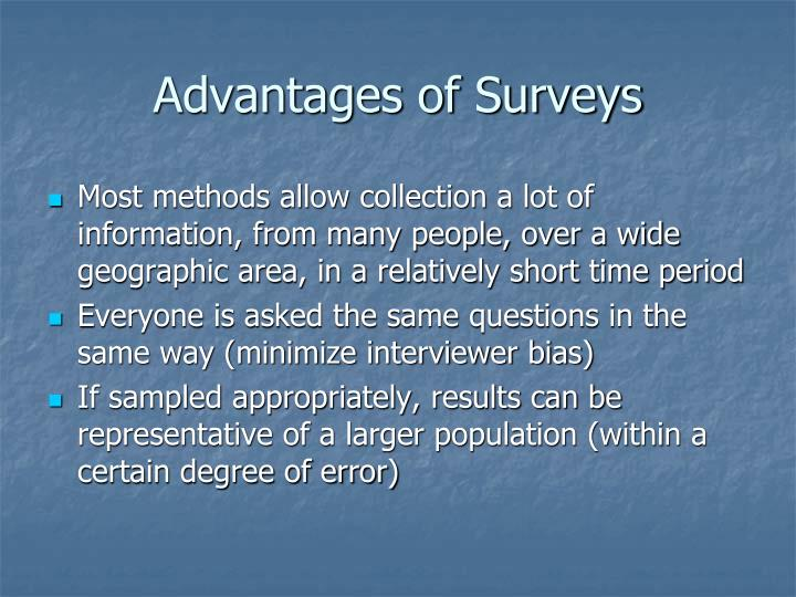 Advantages of Surveys