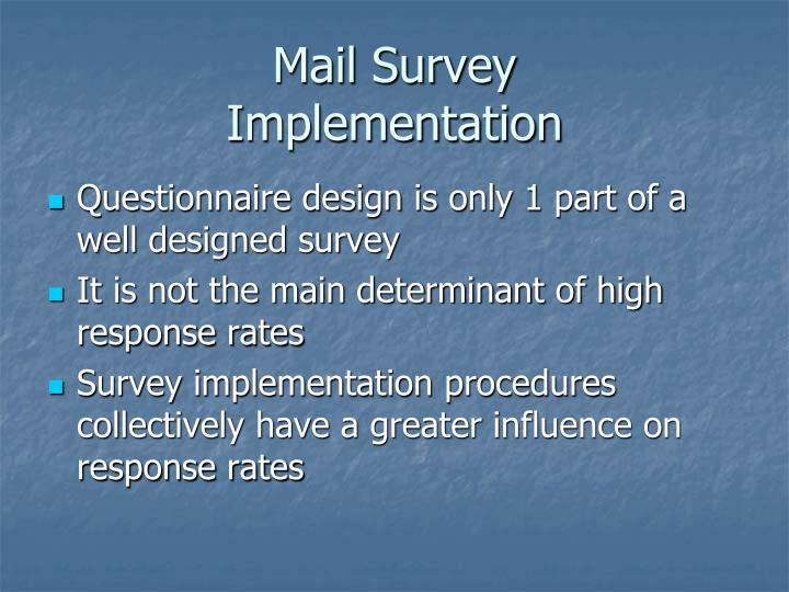 Mail Survey