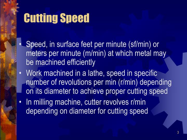 Cutting Speed