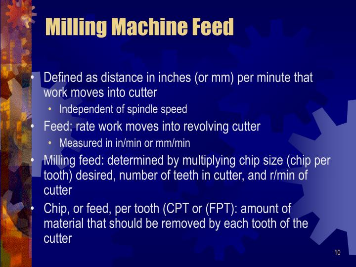Milling Machine Feed
