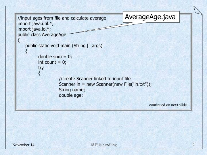AverageAge.java
