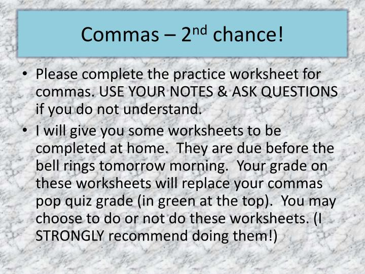 Commas – 2