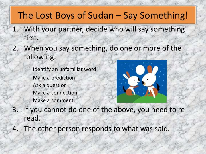 The Lost Boys of Sudan – Say Something!