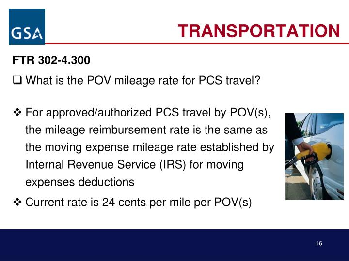 Ppt Federal Travel Regulation Ftr For Non Defense Agencies Relocation Allowances