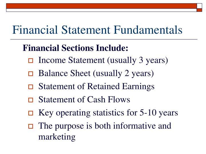 Financial Statement Fundamentals