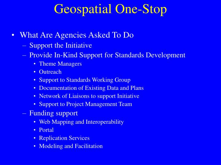 Geospatial One-Stop