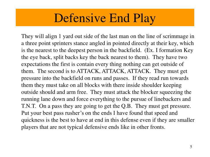 Defensive End Play