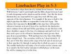 linebacker play in 5 3