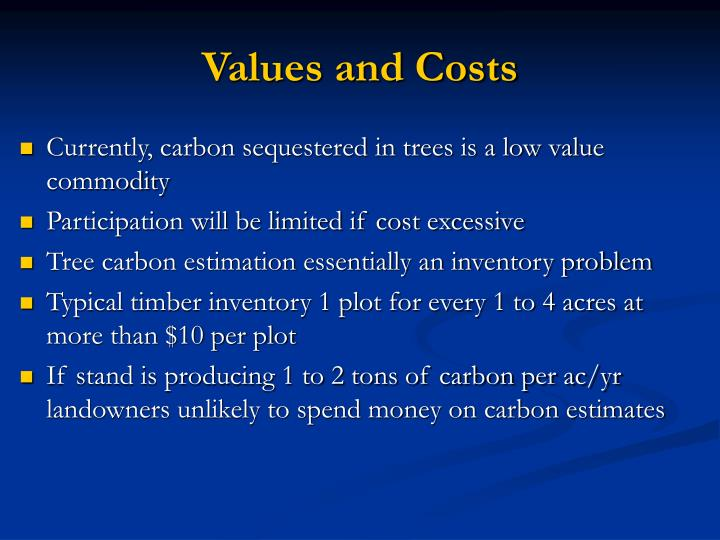 Values and costs