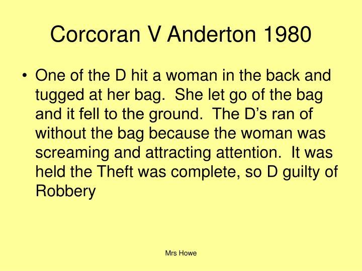 Corcoran V Anderton 1980