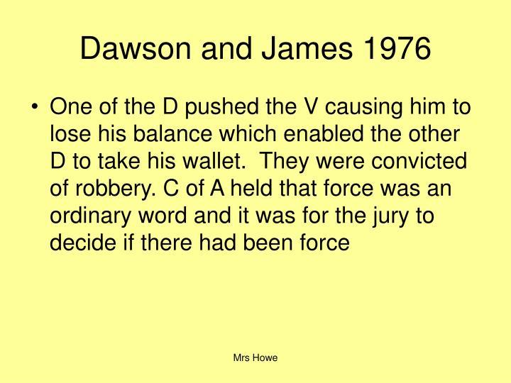 Dawson and James 1976