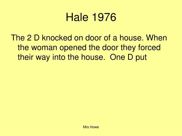 Hale 1976