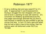 robinson 1977