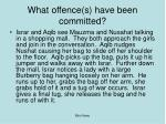 what offence s have been committed