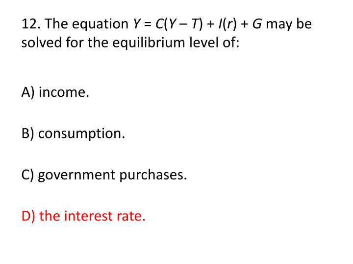 12. The equation