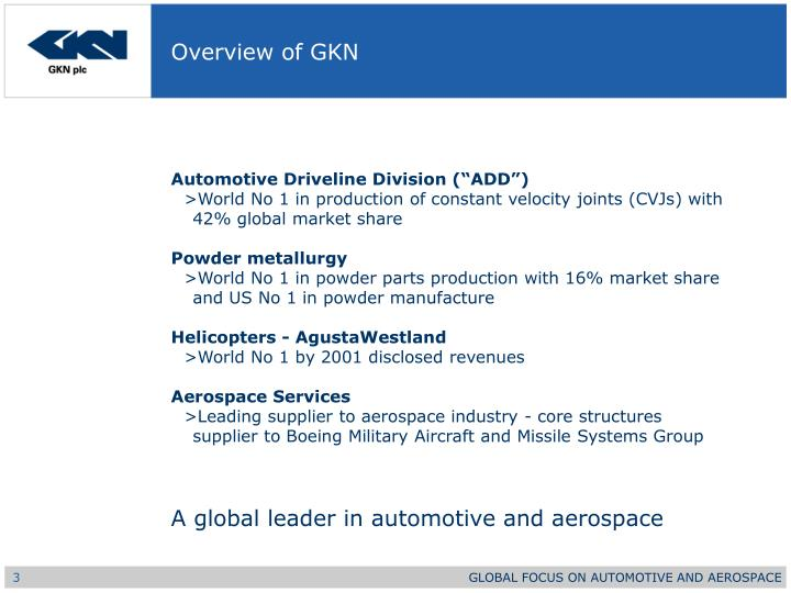 Overview of gkn1