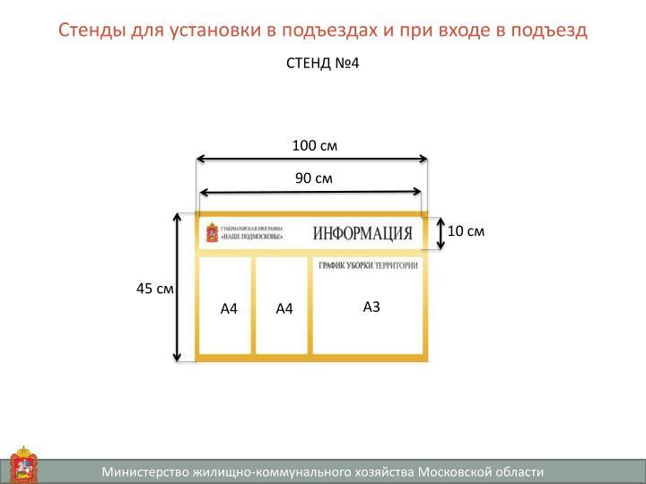 Стенды для установки в подъездах и при входе в подъезд