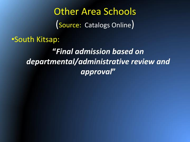 Other Area Schools
