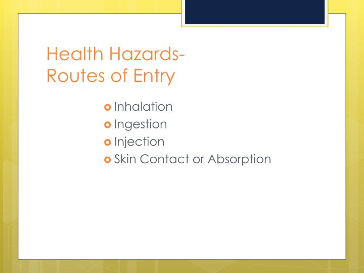 Health Hazards-