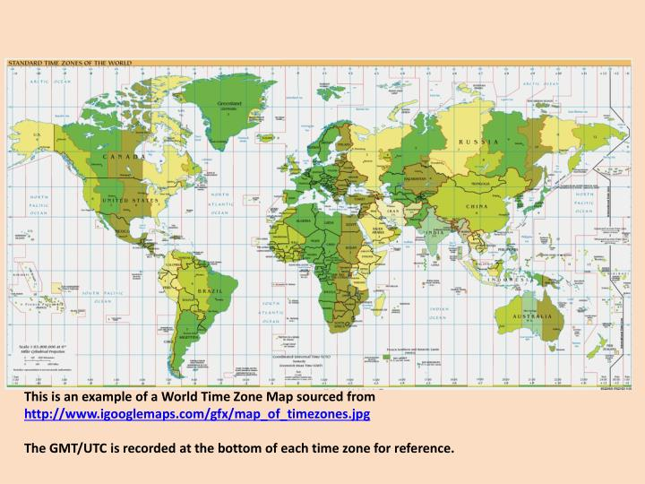 This is an example of a World Time Zone Map sourced from