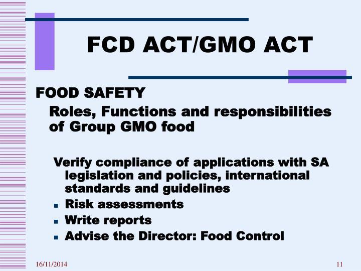FCD ACT/GMO ACT