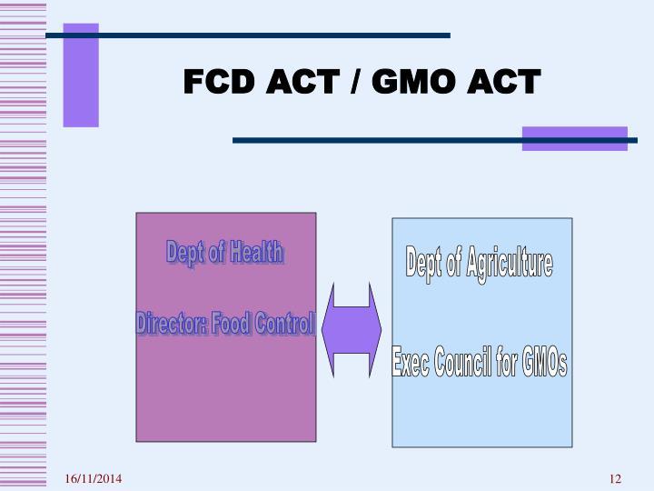 FCD ACT / GMO ACT