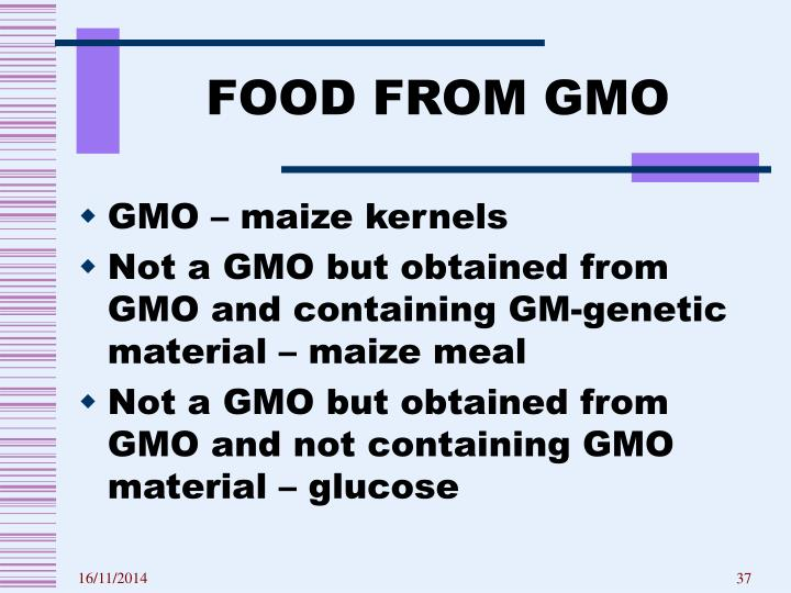 FOOD FROM GMO