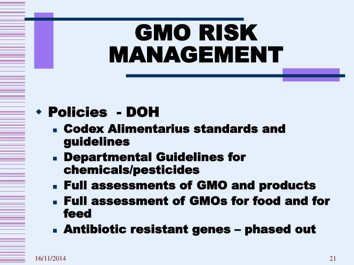 GMO RISK MANAGEMENT