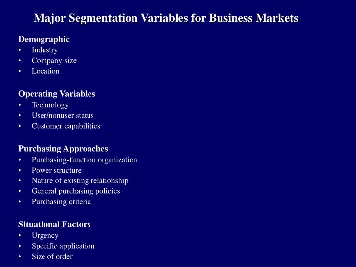 segmentation variables airline industry Tourism segmentation by consumer-based variables abstract the basis for successful marketing is to understand and satisfy consumer needs sometimes it is even possible.