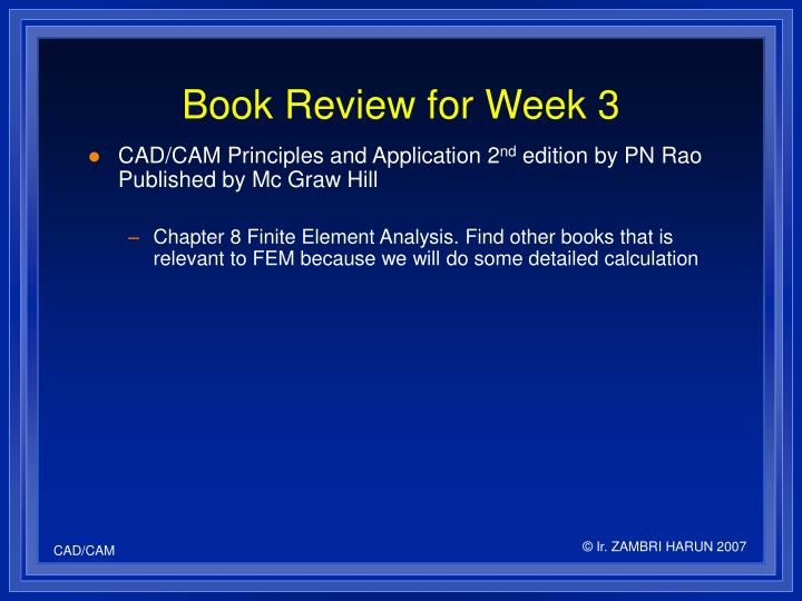 Book Review for Week 3