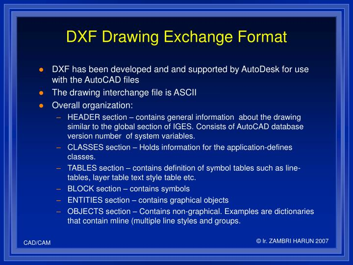 DXF Drawing Exchange Format